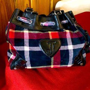 Juicy Couture plaid print purse